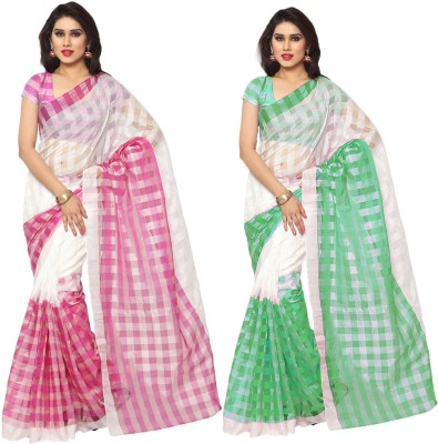 Prachi Silk Mills Printed Daily Wear Silk Cotton Blend Sari