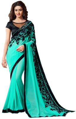 India Bulks Embriodered Fashion Chiffon Sari