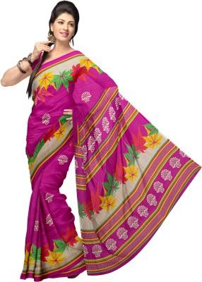Komal Sarees Self Design, Printed Bollywood Georgette Sari