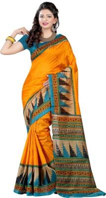 Kanishk Textile Printed Bhagalpuri Silk Sari