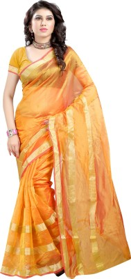 Sanju Sarees Solid Fashion Art Silk Saree(Green) at flipkart
