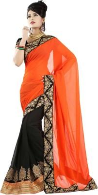 Aimretail Self Design Fashion Georgette Sari