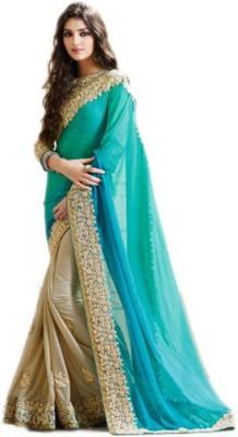 Shopcartz Embriodered Bollywood Poly Silk Sari