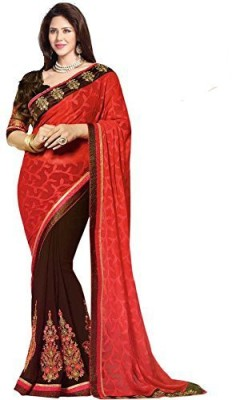 Shree Sai NX Embriodered Bollywood Jacquard, Georgette Sari