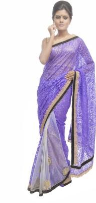 Retaaz Self Design, Applique Fashion Brasso, Net Sari