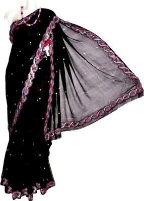 Kreasions Geometric Print Fashion Handloom Chiffon Sari