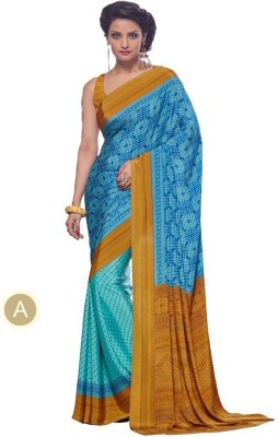 Meghalya Printed Fashion Pure Crepe Sari