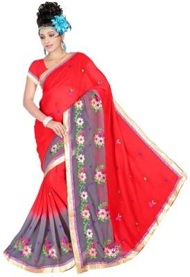 Trendyaaradhya Embriodered Bollywood Georgette Sari