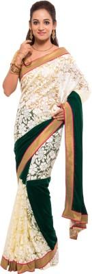 Geisha Self Design Fashion Net Sari