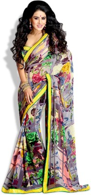 Vogue4all Printed Fashion Georgette Sari