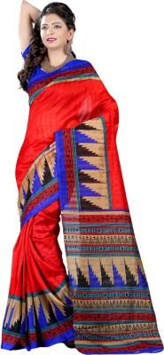 Kiran Textiles Printed Bhagalpuri Silk Sari