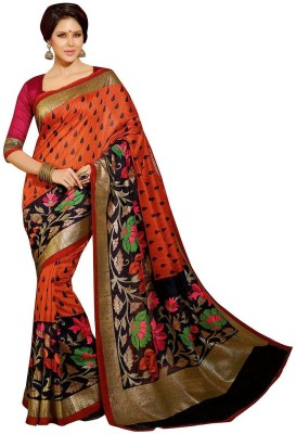 Mahesh Traders Printed Fashion Art Silk Sari