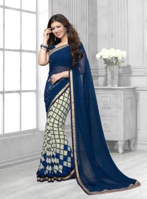 Mysticbeauty Printed Bollywood Georgette Sari