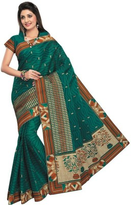 Meena Prints Embriodered, Printed Daily Wear Cotton Sari