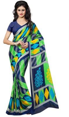 Fabdeal Geometric Print Fashion Chiffon Sari