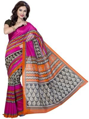 Rani Saahiba Geometric Print Bhagalpuri Art Silk Sari