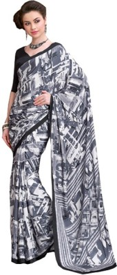 Marudhar Kesri Printed Daily Wear Synthetic Fabric Sari