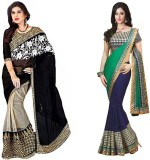 MDS Embriodered Bollywood Chiffon Sari (...
