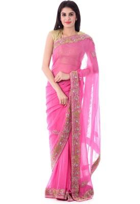 Shri Krishnam Embriodered, Embellished Fashion Georgette Sari