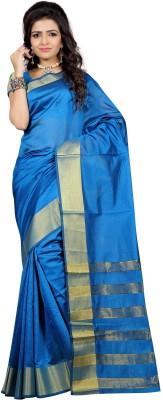 Indian E Fashion Plain Chanderi Cotton Sari