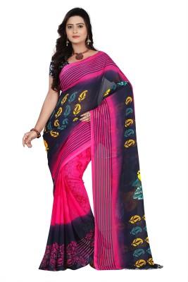V-Karan Printed Fashion Georgette Sari