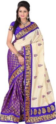 BlueGene Self Design Bollywood Chanderi Sari