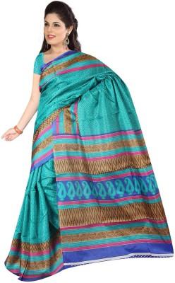 Velvetic Printed Bhagalpuri Poly Silk Sari