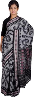 favio Woven, Self Design Ikkat Handloom Cotton Sari