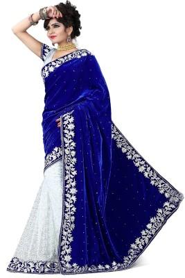 Reya Self Design Fashion Velvet Sari