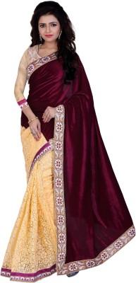 Indi Wardrobe Embriodered Bollywood Velvet Sari