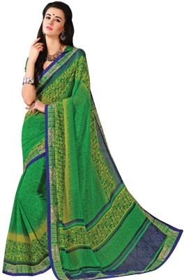 Tulaasi Plain Fashion Georgette Sari