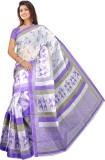 Kjs Printed Daily Wear Polycotton Saree ...