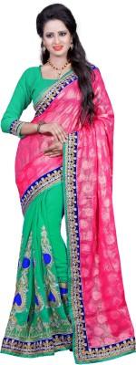 SareeBazaar Embriodered, Self Design Bollywood Georgette, Jacquard Sari
