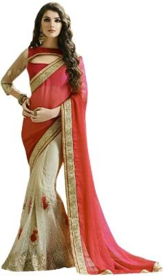 PRIYANSHU CREATION Embriodered Bollywood Chiffon Sari