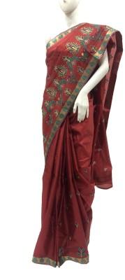 Shreya Boutique Embriodered Assam Silk Art Silk Sari