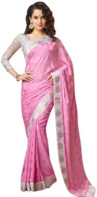 Bluebirdimpex Solid Bollywood Jacquard Sari