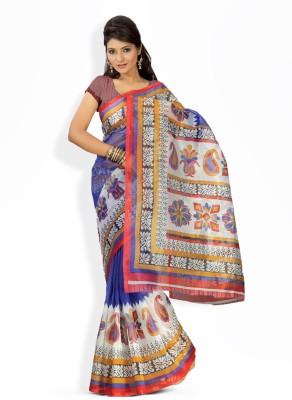 Suali Printed Fashion Kota Saree(Blue) at flipkart
