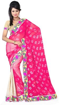 Aanchal Fashion Geometric Print Fashion Brasso Sari