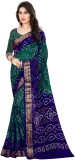 TryDeals Hand Painted, Printed Bandhej A...