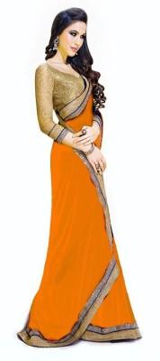 Ram Fashion Plain Bollywood Handloom Chiffon Sari