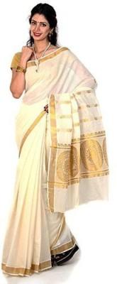 Right Shape Solid Fashion Handloom Cotton Sari