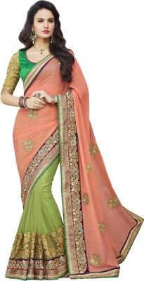 SareeShop Embriodered Bollywood Georgette Sari