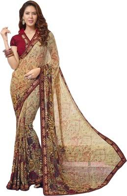 Bapa Sitaram Prints Floral Print Fashion Georgette Sari