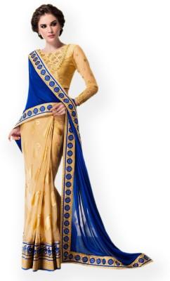Vidya Fashion Embriodered Fashion Brasso Sari