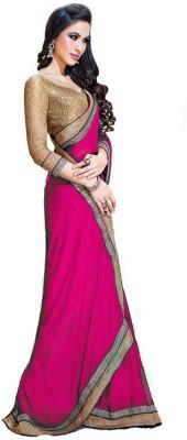 Pnfnetworkz Solid Kantha Georgette Sari