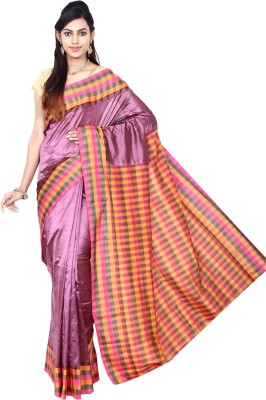 Indian Silks Checkered Kanjivaram Pure Silk Sari