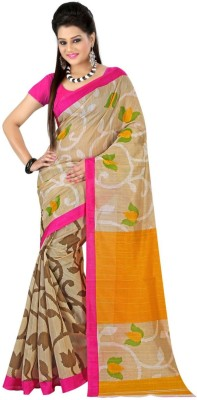 Textilebaba Printed Fashion Art Silk Sari