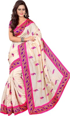 Om Fashion Embriodered Fashion Art Silk Sari
