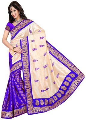 Ramadev Fashion Embriodered Bollywood Silk Sari