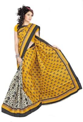 RajSilkCreation Printed Bhagalpuri Cotton Sari